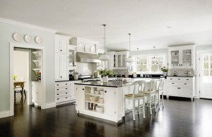 light and dark kitchen