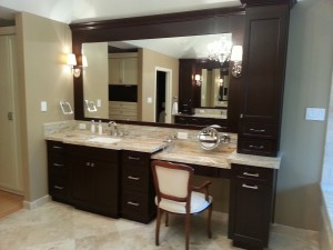 her custom bathroom vanity
