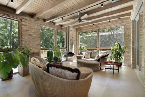 brick sunroom addition