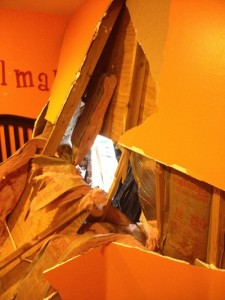 Bellaire home: Bedroom after SUV accident