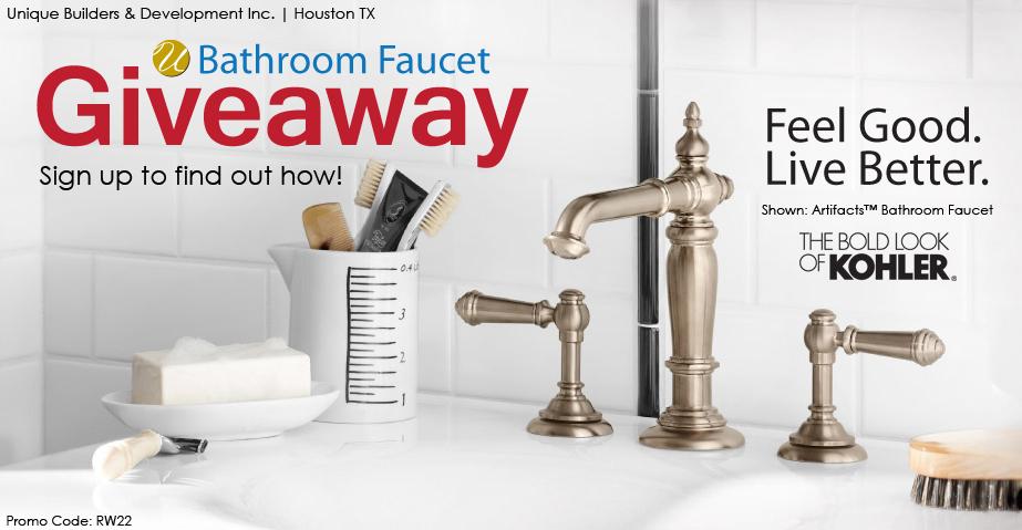 Bathroom Faucet Giveaway Promo Code RW22