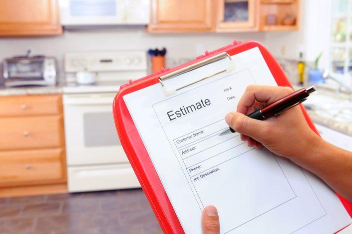 Contractors clipboard estimate form