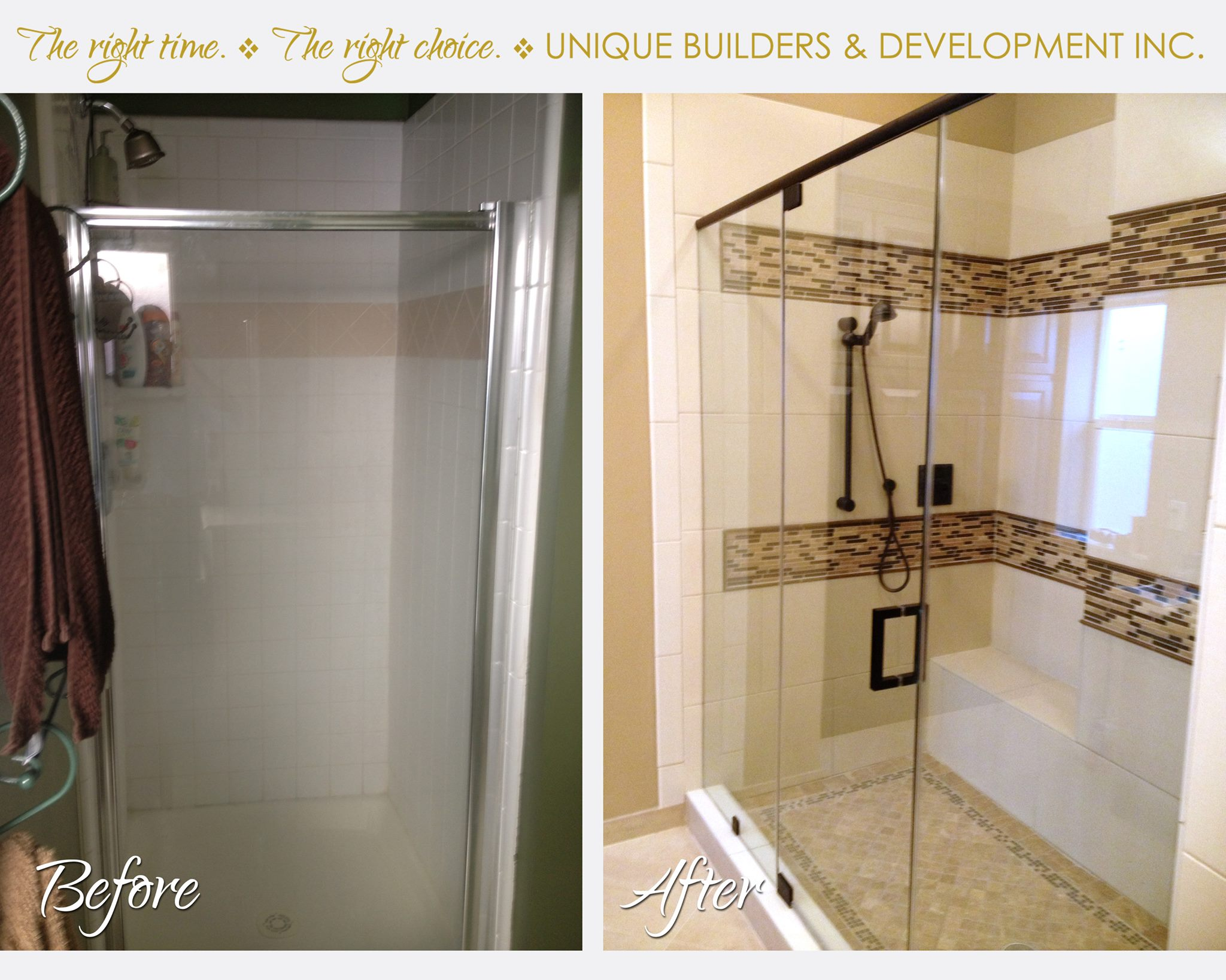 Before and After Bathroom Remodel Houston - UniqueBuildersTexas