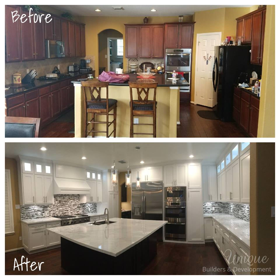 Before And After Of This Beautiful Open Concept Kitchen: Kitchen Remodeling Houston