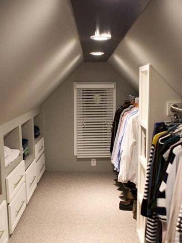 Attic Conversion Houston - Attic Closet